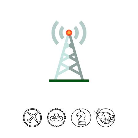 Radio tower icon Illustration