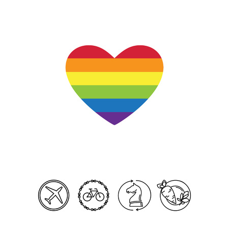 Rainbow heart icon Иллюстрация