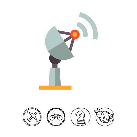 Receiver flat icon