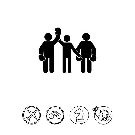 mobile apps: Referee and Boxers as Boxing Concept Icon Illustration