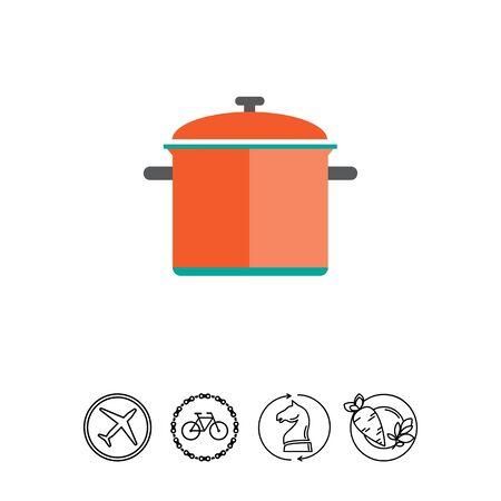 Red saucepan
