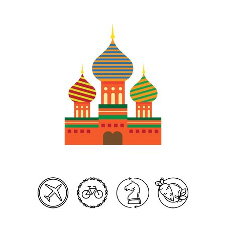 moscow city: Saint Basil Cathedral icon