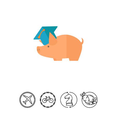 Saving money for education Illustration