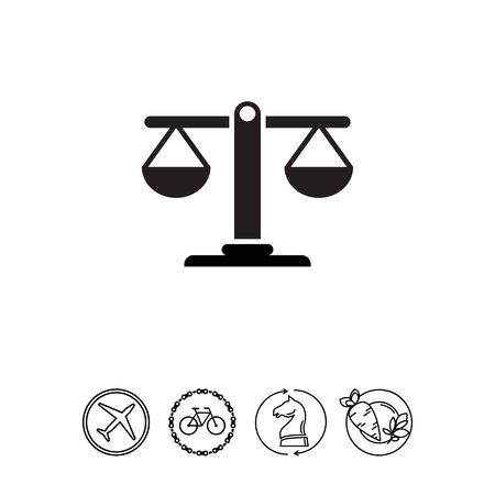 justice scale: Scales icon Illustration