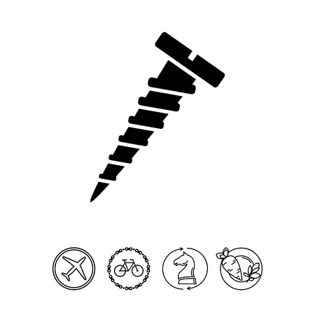 slotted: Screw simple icon