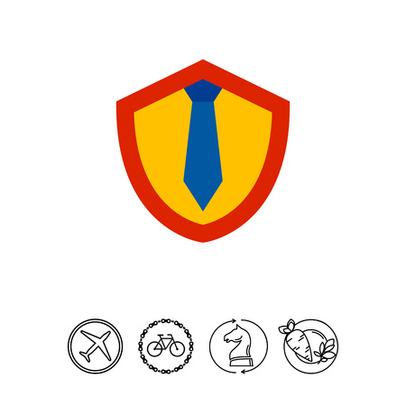 Shield with Tie as Lawyer Concept Icon Illustration