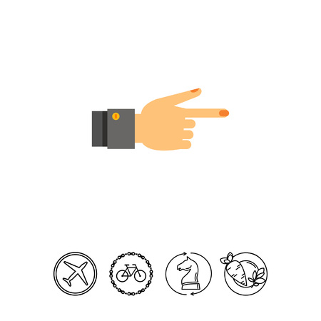 beige: Showing Finger Icon Illustration