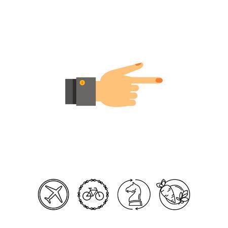 mobile apps: Showing Finger Icon Illustration