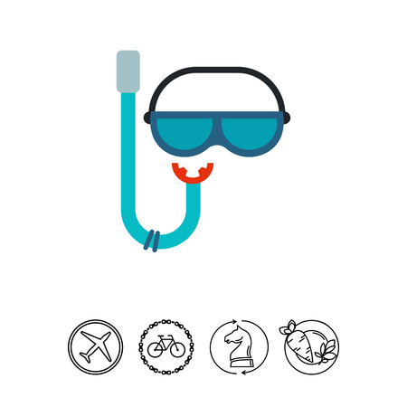 deep sea diver: Snorkel and Mask for Scuba Diving Icon