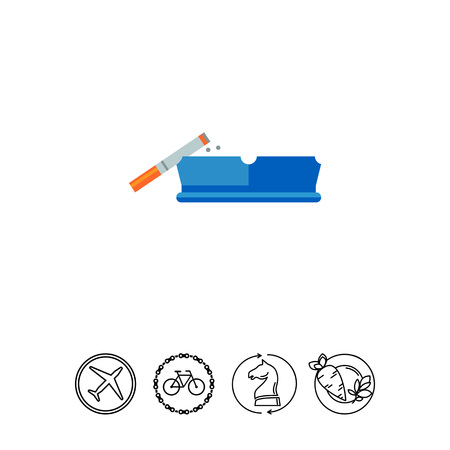 Smoking Cigarette on Ashtray Icon