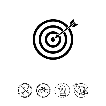 Target and Arrow as Targeting Concept Icon Illustration