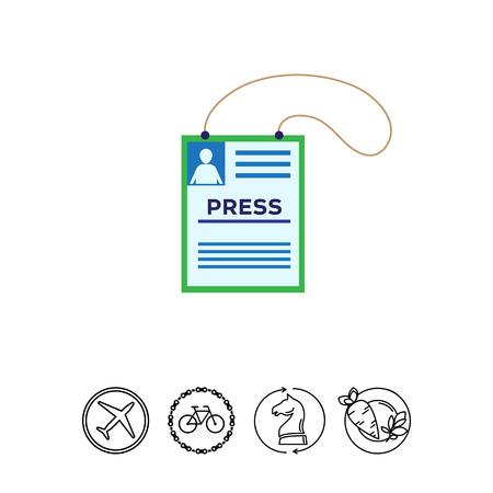 Press card icon Illustration