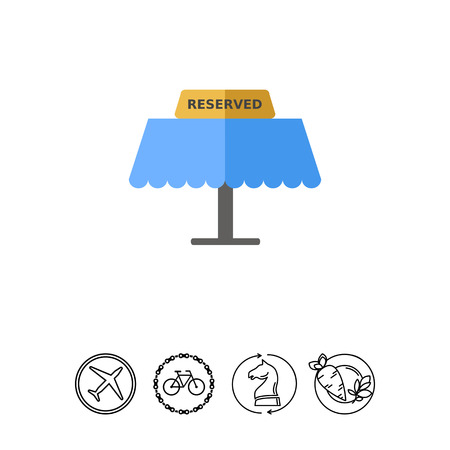 reserved: Reserved Tablet on Table Icon