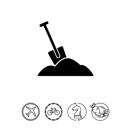 Spade as Work Concept Icon Illustration