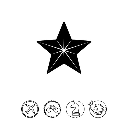 medal like: Star simple icon