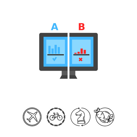 Split test flat icon