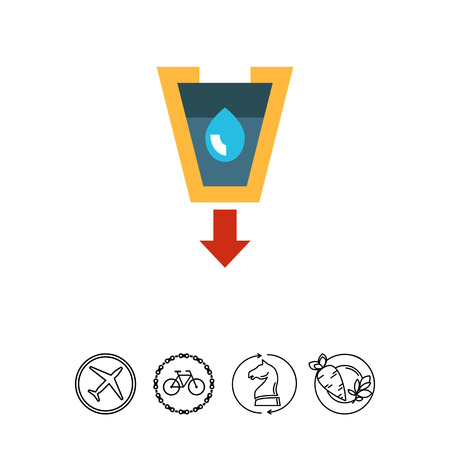 filtering: Stylized funnel icon