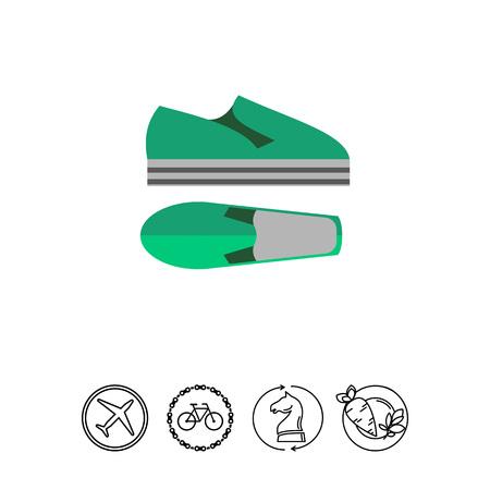 Chaussures d'été Icône Banque d'images - 78983725