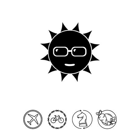 to spend the summer: Sun in Sunglasses Icon