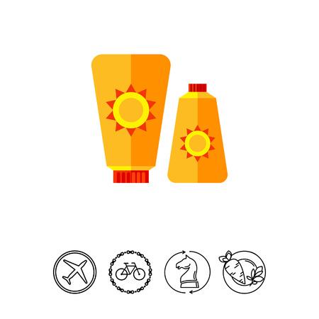 Sunblock Cream Icon Illustration