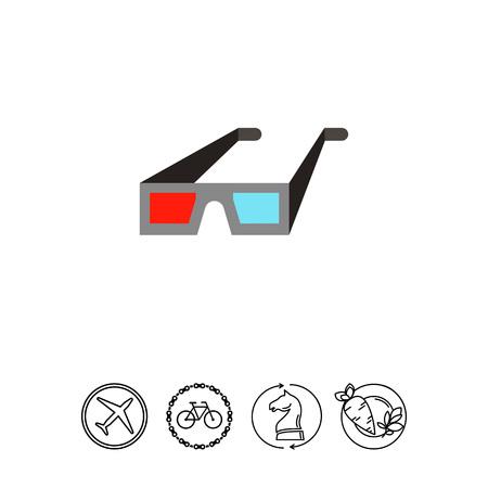 stereoscope: 3d cinema glasses icon
