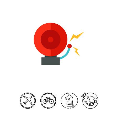 crime prevention: Alarm bell icon Illustration