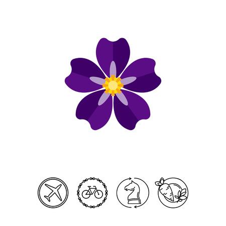 Icon von blühenden Vergissmeinnicht. Armenischer Völkermord, Natur, Flora. Verbrechen gegen das menschliche Konzept. Kann für Themen wie nationale Tragödie, Blumen oder Schönheit verwendet werden Standard-Bild - 78973474
