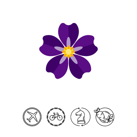 Icon of blooming forget-me-not. Armenian genocide, nature, flora. Crime against humanity concept. Can be used for topics like national tragedy, flowers or beauty Illustration
