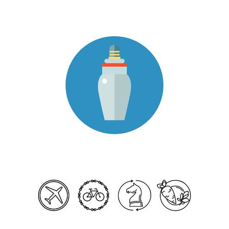 Baby bottle icon.