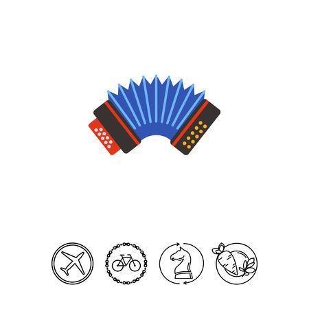 Blue accordion vector icon. Stok Fotoğraf - 78974895
