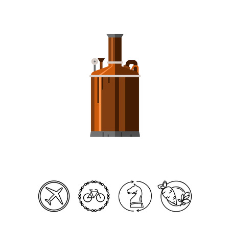 Brewery equipment icon. Illustration