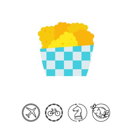 crunchy: Chicken nuggets icon