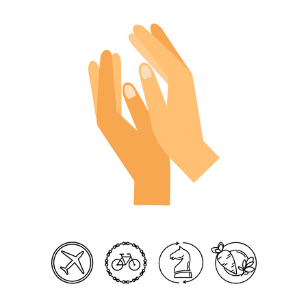 praise: Clapping hands vector icon