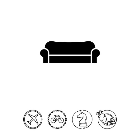 Comfortable Couch Icon Фото со стока - 79016783