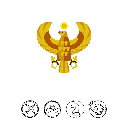 horus: Egyptian horus falcon vector icon
