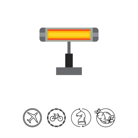 Electric infrared heater icon