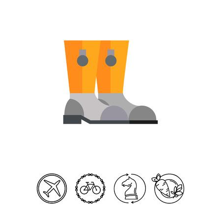 Icono De Botas De Bombero. Zapatos b27a20fd6f7b4