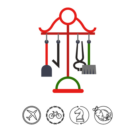 Fireplace accessories icon