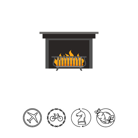 Fireplace grate icon