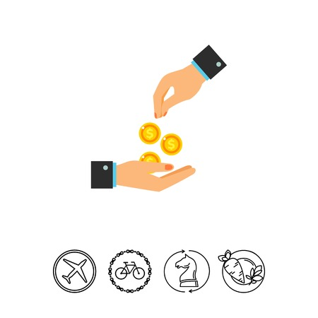 altruismo: Dando dinero icono