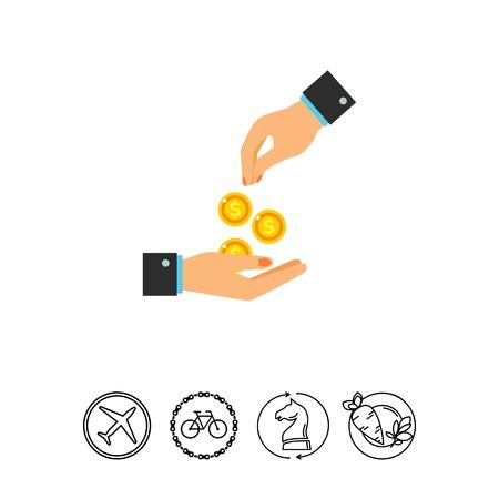 altruism: Giving money icon