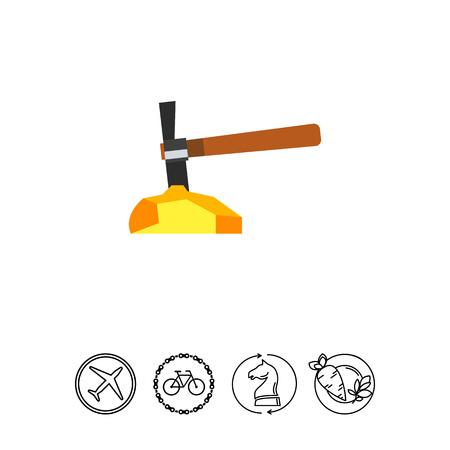 mining gold: Gold mining icon
