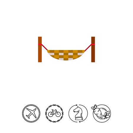 Hanging hammock icon