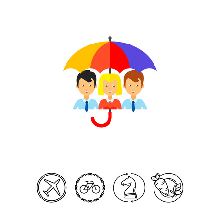 Life Insurance Concept Icon Illustration