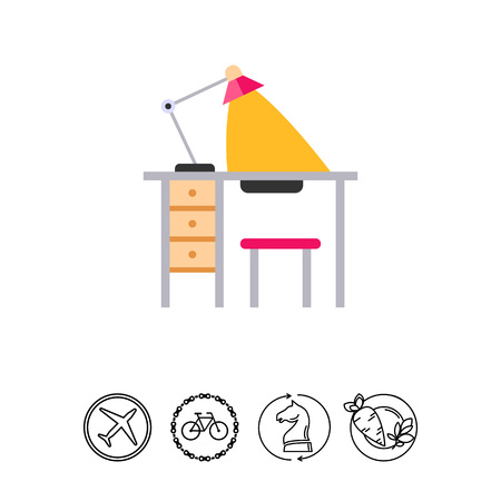 Manicure table icon
