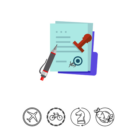 documentation: MOU memorandum, pen and stamp. Papers, agreement, regulations. MOU memorandum concept. Can be used for topics like business, paperwork, management.