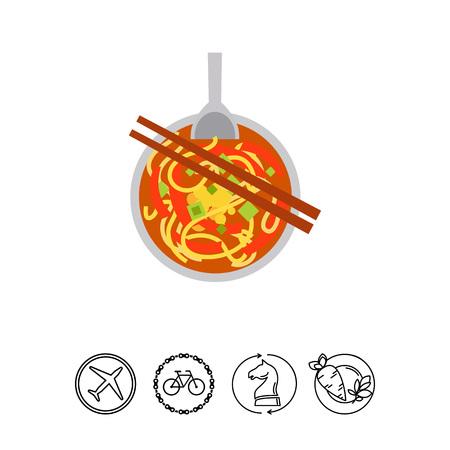 Noodle soup Nam ngiao icon