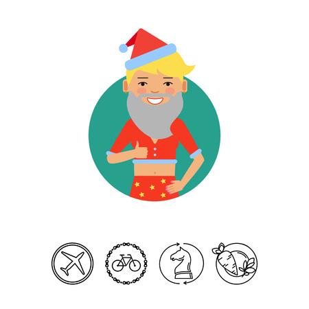 earrings: Teenage girl wearing Santa costume