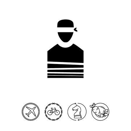 Tied Hostage with Blindfold Icon Imagens - 79065325