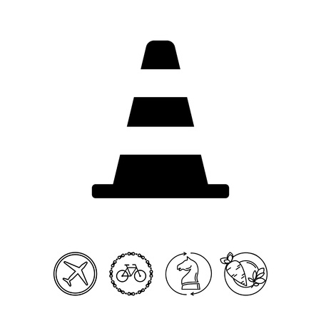 hazard: Traffic cone icon